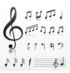 Collection of music note symbols vector