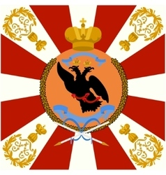 Colored flag of the Life Guards Izmailovo Regiment vector image vector image