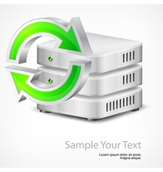 Database with round arrow vector image vector image