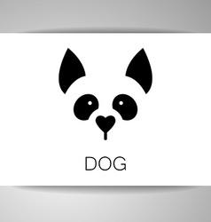 dog animal template vector image vector image