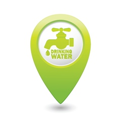 drinking water GREEN map pointer vector image