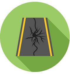 earthquake on road vector image vector image
