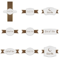 Eid al-fitr realistic festive banners collection vector