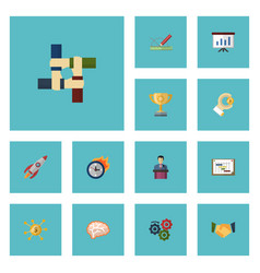 flat icons limit businessman coin and other vector image