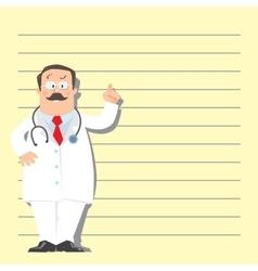 Funny man doctor vector