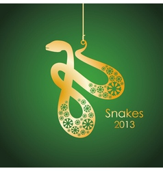 gold snakes symbol vector image vector image