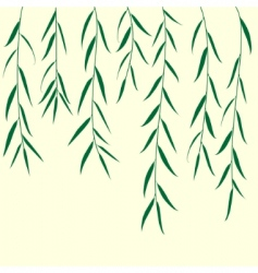 green branch background vector illustration vector image vector image