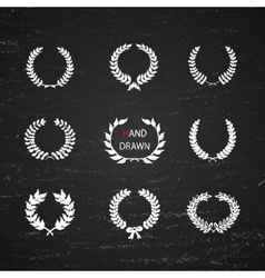 Hand drawn laurel wreath vector