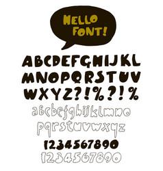 hand drawn retro color font vector image vector image