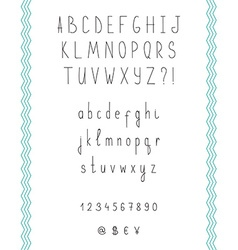 Hand drawn sketch alphabet Handwritten font vector image vector image