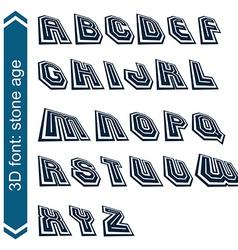 Headline retro style technical 3d font vector
