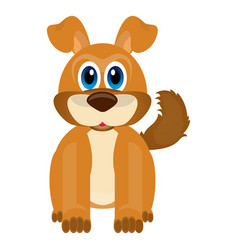 isolated cute dog vector image