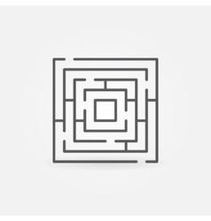 Labyrinth minimal icon vector image vector image