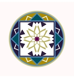 Mandala tattoo icon geometric round stylized vector
