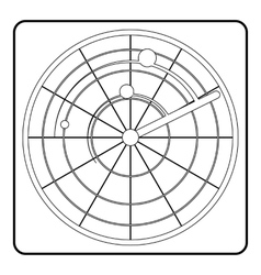 Radar icon outline style vector image vector image