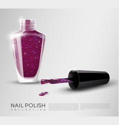 realistic nail polish template vector image vector image