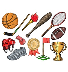 Sport objects vector