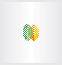 spring and autumn leaves icon logo vector image vector image