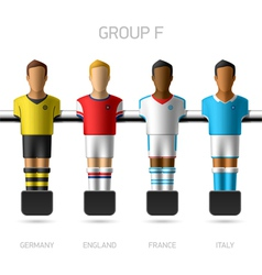 Table football foosball players Group F vector image vector image