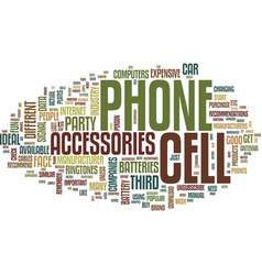 The different cell phone accessories available vector
