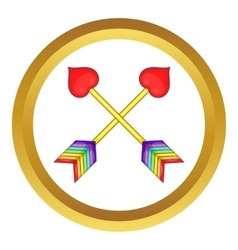 Two arrows LGBT icon vector image vector image