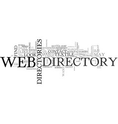 Web directories text word cloud concept vector