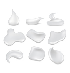 White fresh cream strokes mousse foam froth vector image vector image
