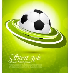 Sport background in green color vector image