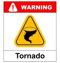 Warning tornado sign vector