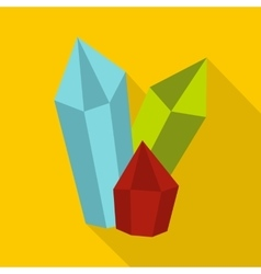 Diamonds icon flat style vector
