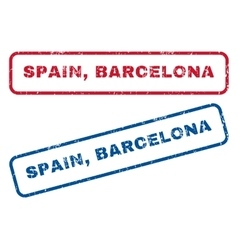 Spain barcelona rubber stamps vector