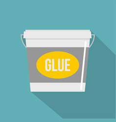 Glue bucket icon flat style vector
