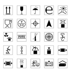 set of packing icons vector image