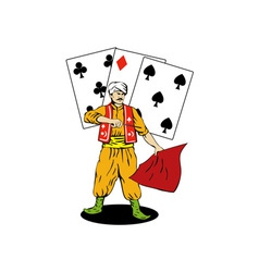 Magician deck of cards vector image