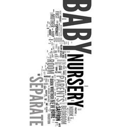 Your baby nursery text word cloud concept vector
