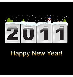 New Year Counter With Snowman vector image
