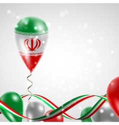 Flag of iran on balloon vector