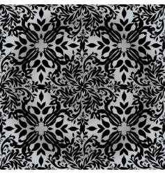floral silver pattern vector image