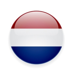 Round icon with flag of Netherlands vector image