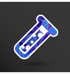 Test icon fluid symbol flask glass vector