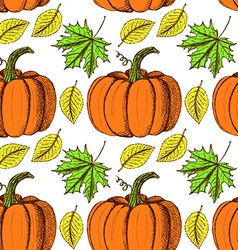 Sketch thanksgiving seamless pattern vector