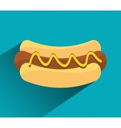 Hot dog fast sport design vector