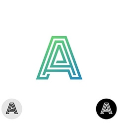 Letter a linear maze style logo vector