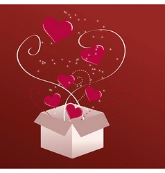 Gift of love vector