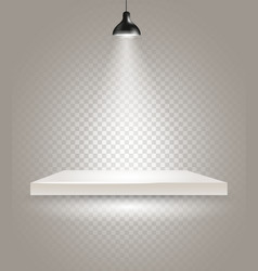 Bright stage with the lamp vector