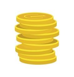 Lucky gold coin icon vector