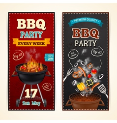 Barbecue party banners set vector