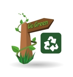 Go green design eco concept white background vector