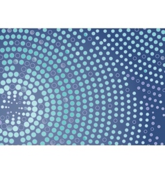 Abstract Dotted Circle Background vector image vector image