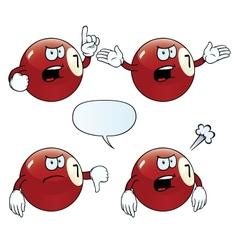 Angry billiard ball set vector image